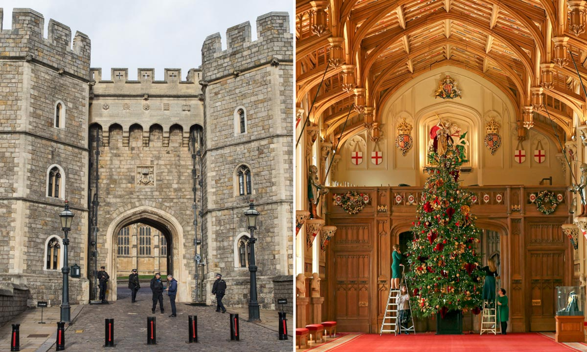 The Queen's residence Windsor Castle suffers Christmas setback   HELLO!