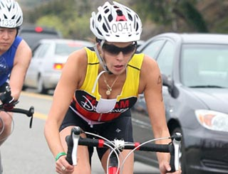 Teri Hatcher gets on her bike for gruelling triathlon