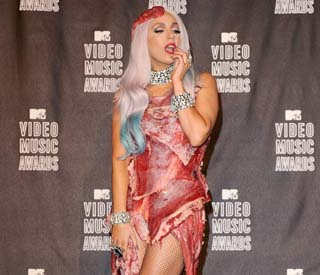 Gaga Meat Dress Hall Of Fame