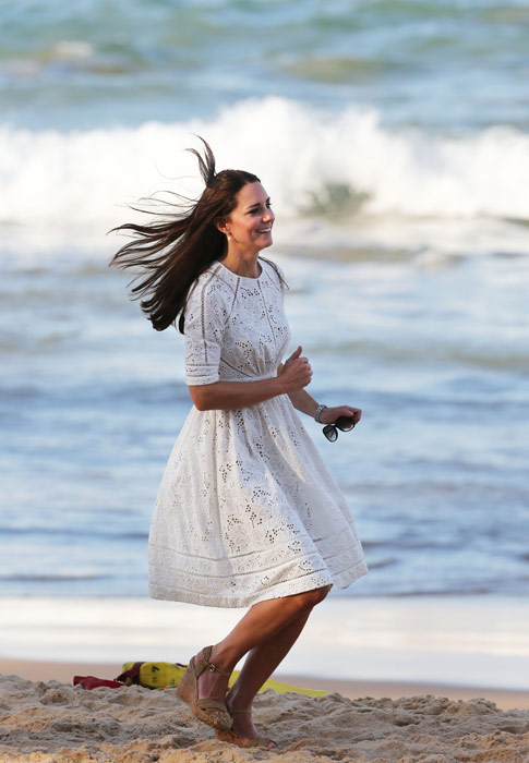 Duchess Kate Channels Her Inner Beach Babe As She Jogs In