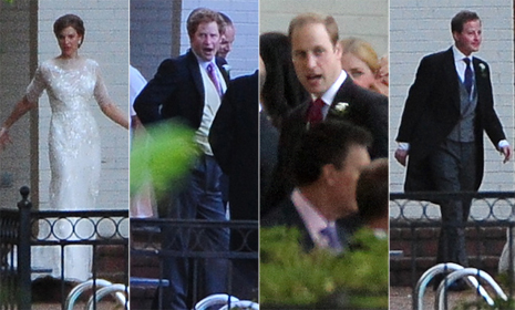 Prince William and Prince Harry attend close friend Guy Pelly's wedding