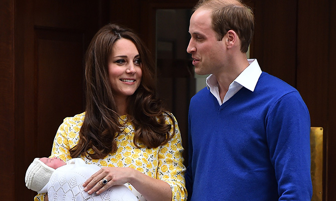 William and Kate present their baby daughter to the world