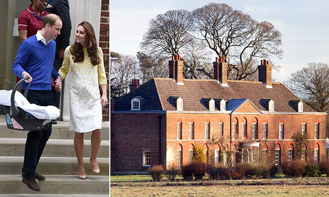 William and Kate Middleton expected to head to their country residence Anmer Hall on Tuesday