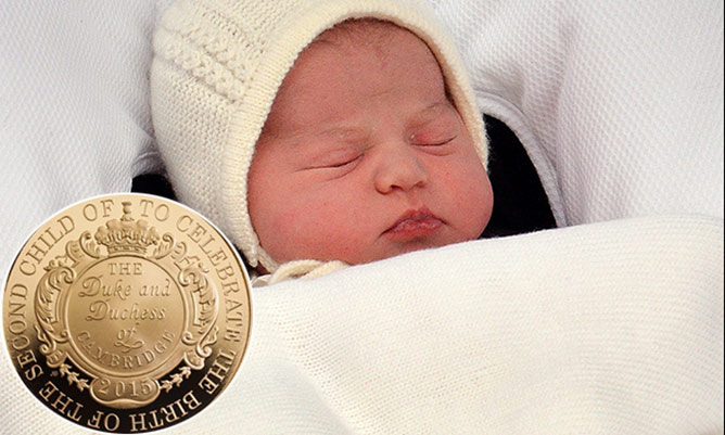 Royal Mint unveil new £5 coin to celebrate Princess' birth