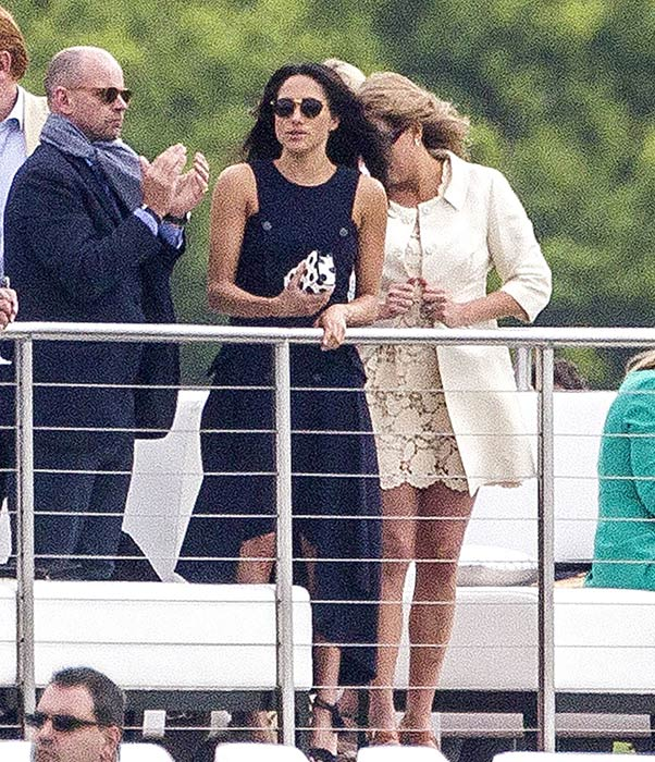 Meghan Markle Watches Boyfriend Prince Harry At Polo In Ascot