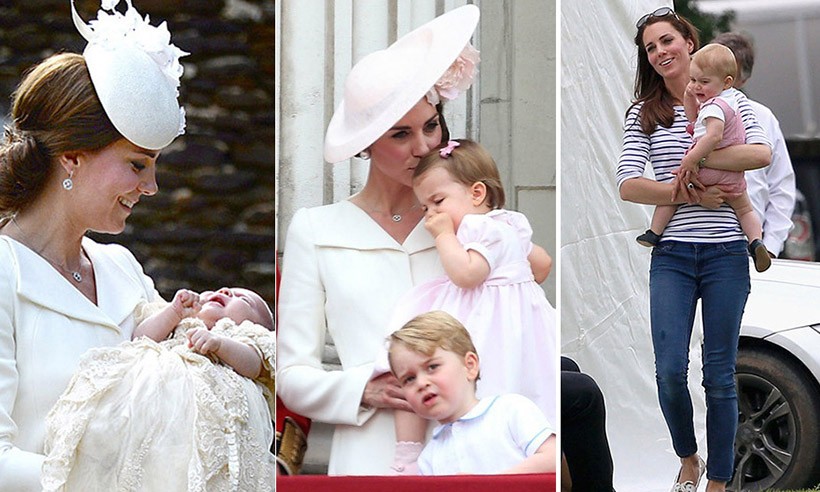 The Duchess of Cambridge's sweetest moments with Prince George and Princess Charlotte