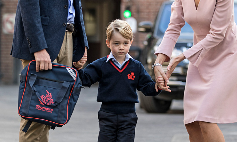 Prince George's first day of school: all the pictures
