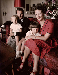 Prince Henrik and Queen Margrethe with Prince Frederik and Prince Joachim