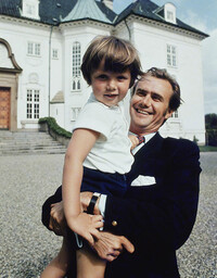 Prince Henrik with Prince Frederik as a child