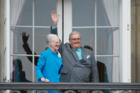 Prince Henrik with Queen Margrethe