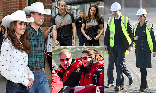 Prince William and Kate's best twinning moments in photos