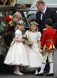 lady louise windsor bridesmaid prince william kate middleton wedding