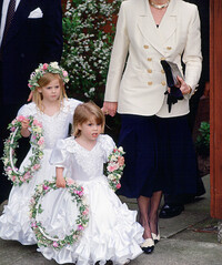 princess eugenie princess beatrice bridesmaids alison wardley wedding 1993