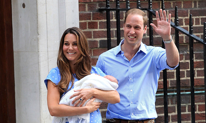 prince william kate middleton lindo wing steps prince george