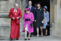 royal family leave st georges chapel