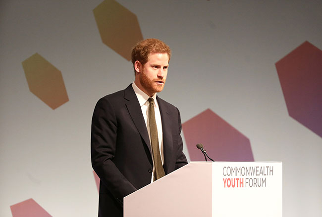 Prince Harry at the Commonwealth Youth forum