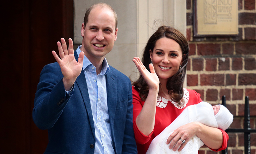 prince william kate middleton wave lindo wing prince louis