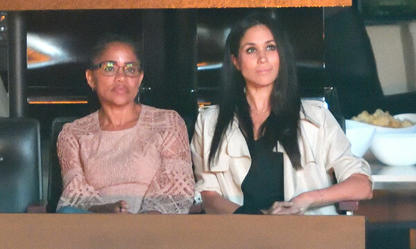 Doria Ragland with Meghan Markle