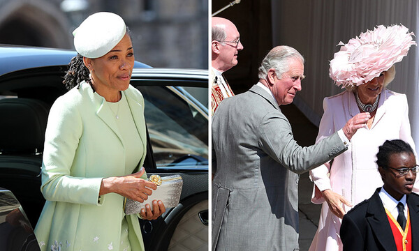 Doria Ragland at the wedding with Prince Charles