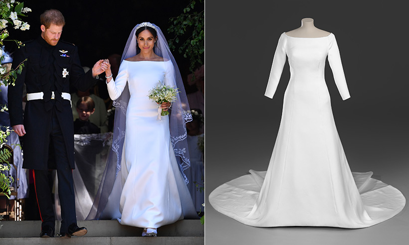 meghan markle wedding dress on display