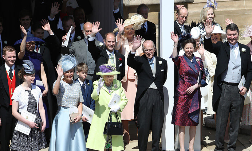 royal family at prince harry and meghan markle wedding