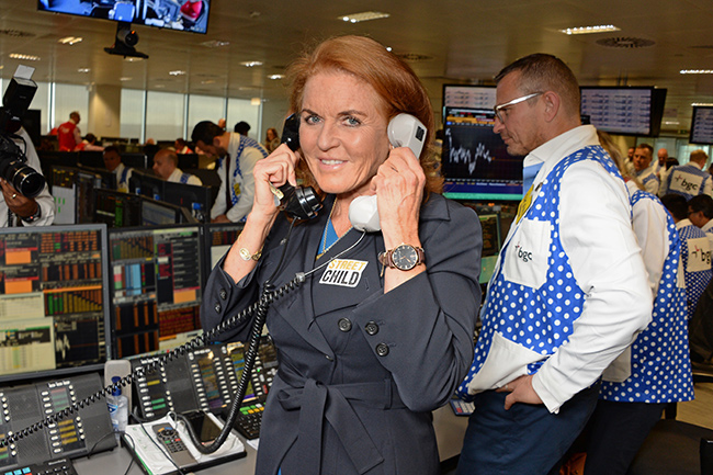 sarah ferguson attends bgc charity day