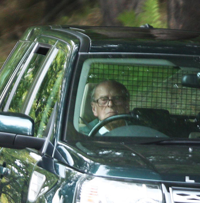 Prince Philip, 97, In High Spirits As He Takes Solo Drive