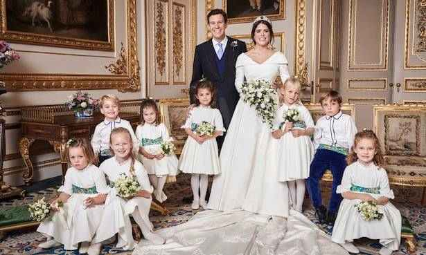 Savannah Phillips makes cheeky move in official royal wedding portrait - did you notice?