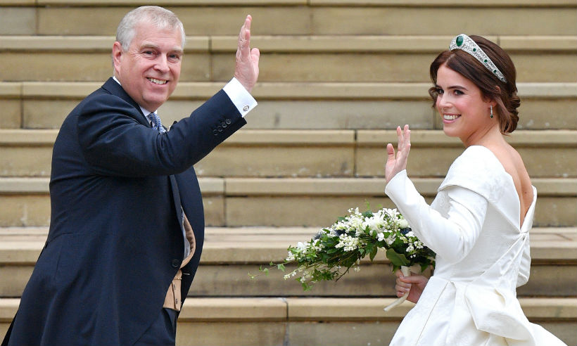Prince Andrew had everyone in tears at Princess Eugenie's wedding by doing something he had never done before