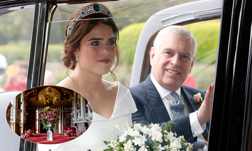 Prince Andrew shares new beautiful photos from inside Princess Eugenie's wedding reception