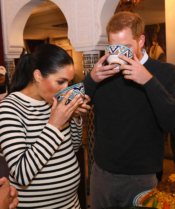 Meghan Markle And Prince Harry Pet Horses During Final Day