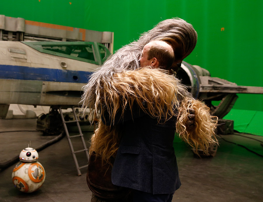 prince william hugs chewbacca