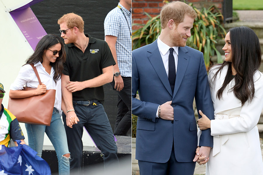 prince harry meghan hold hands