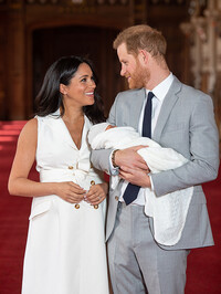 meghan and harry smiling baby
