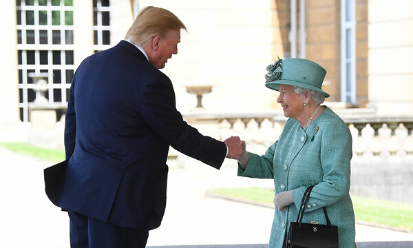donald trump meeting the queen