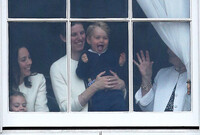 Prince George sticking tongue out