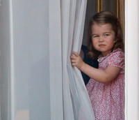 Princess Charlotte looking out of window