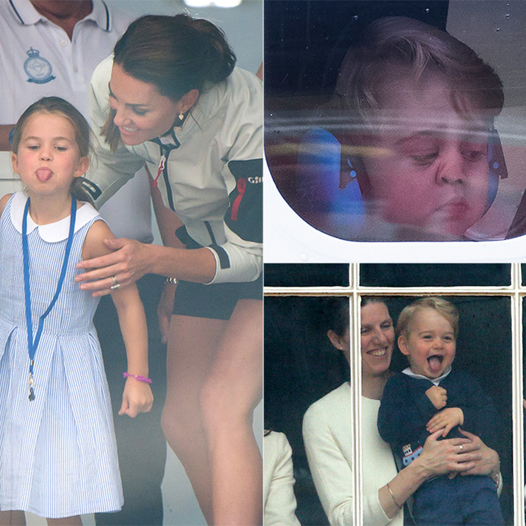 Prince George and Princess Charlotte's cheekiest royal moments through the years
