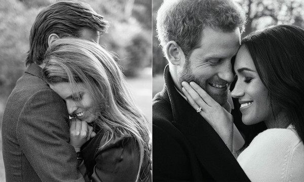 beatrice and meghan engagement pictures compared