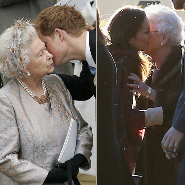 13 heartwarming times the Queen has been greeted with a kiss from her royal family