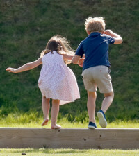 george-and-charlotte-jumping-together