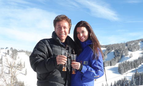 Aspen, Colorado: Ross King skis with the stars