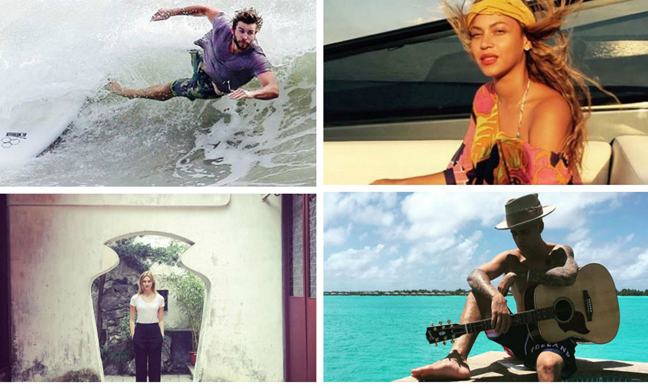 Celebrity vacations: The stars' favorite getaway spots for 2015