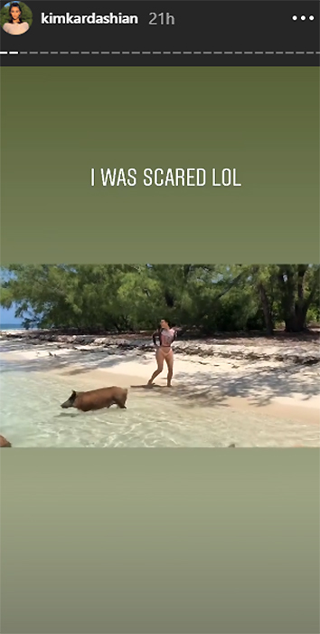 kim-kardashian-on-pig-beach