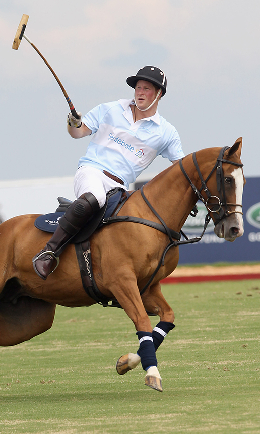 Prince Harry plays polo for the Sentebale team at the Sentebale Royal Salute Polo Cup 2012 in Campinas, Sao Paulo State, Brazil.   Photo by Chris Jackson/Getty Images For Sentebale Royal Salute)