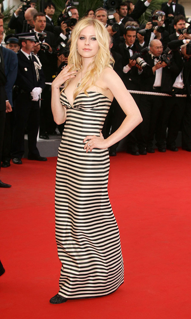 Lavigne looked lovely on the red carpet at the premiere of 'Over the Hedge' at Cannes in May 2006.