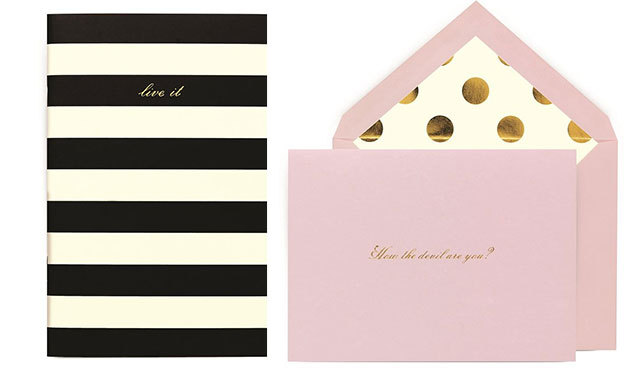 KATE SPADE NOTEBOOKS AND STATIONARY: Kate Spade New York has released a set of designer accessories just in time for the holidays. We're partial to their stationary (for sending elegant thank you cards!) and the oh-so-stylish journals. (Indigo.ca, $20.00 to $30.00).