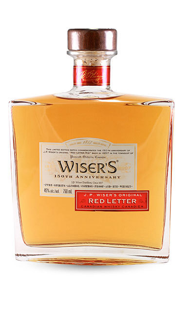WISER'S RED LETTER WHISKY: The re-release of Wiser's celebrated Red Letter Whisky comes just in time for the holidays. The blend of whiskies, aged for a minimum of 10 years, is oft-considered to be one of Canada's finest whiskys. ($150, Licensed liquor stores)
