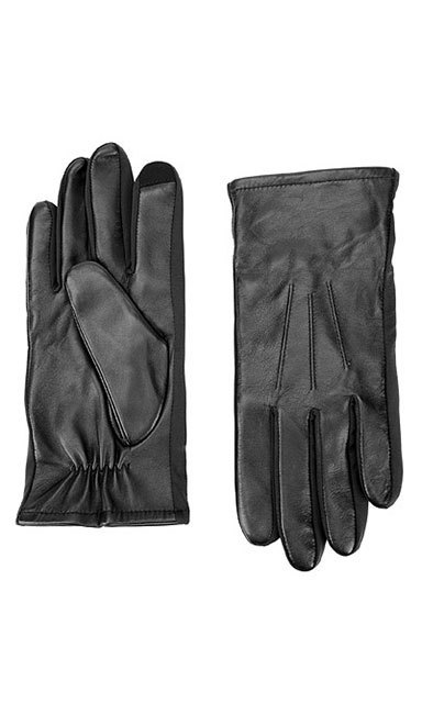 PRESTON LEATHER GLOVE: A special material on the index finger of these functional gloves make it possible to stay warm and type on an electronic device at the same time. ($39, Danier.com)
