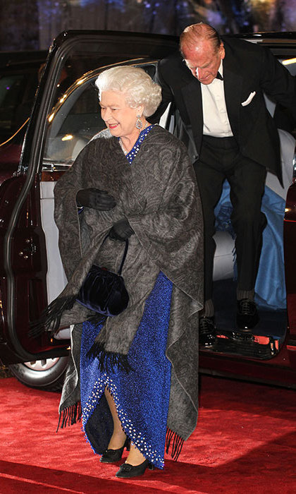 Queen Elizabeth II and Prince Philip, Duke of Edinburgh attend the royal premiere of 'The Chronicles Of Narnia: The Voyage Of The Dawn Treader' at Odeon Leicester Square on November 30, 2010.